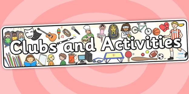 Clubs and Activities Calendar