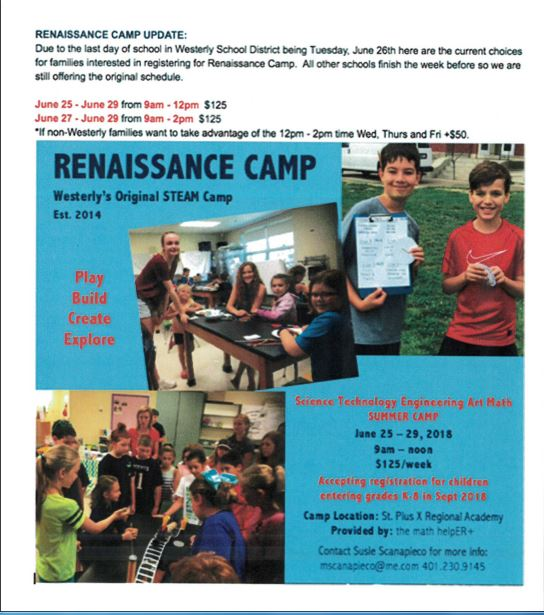 Renaissance Camp - STEAM